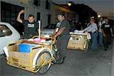 Estos dos triciclos fueron decomisados al tamalero asesino