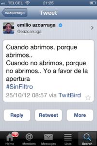 Tweet de Emilio Azcarraga Jean Presidente de Televisa