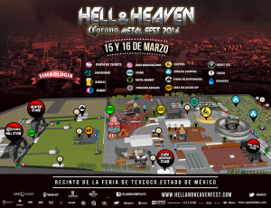 Mapa Hell and Heaven Fest 2014 cancelado